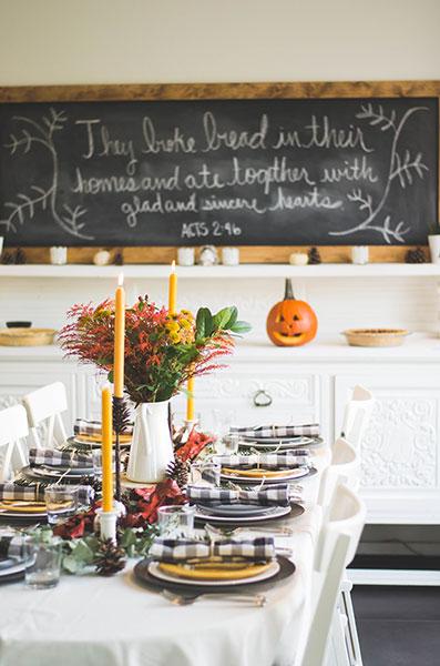 oorsprong black friday thanksgiving tafel